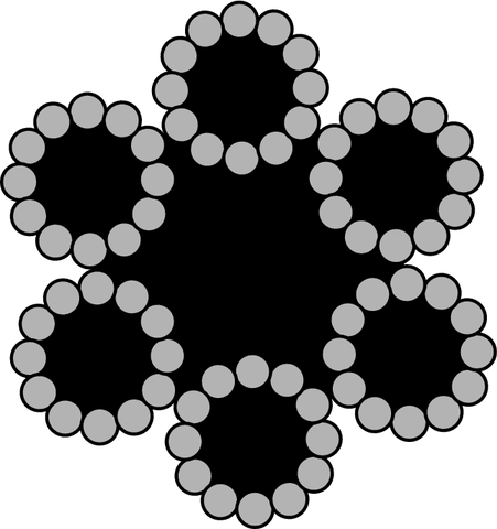 6X12 + 7FC سیم بکسل